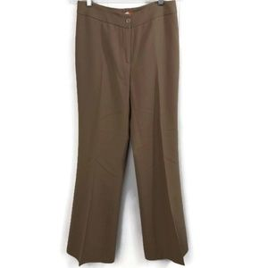 Patrizia Luca Womens 4 Tan 100% Virgin Wool Slacks
